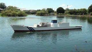 getlinkyoutube.com-5mラジコン船、二回目の公試を行った結果…  乗ってしまった。 Huge RC boat. 17ft RC coast gard ship.