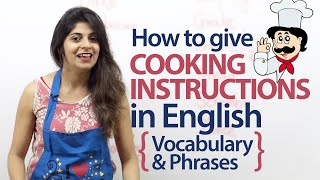 getlinkyoutube.com-Giving cooking instructions in English - Vocabulary and Phrases ( Free Spoken English Lesson)