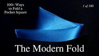 getlinkyoutube.com-How to Fold a Pocket Square Modern Fold