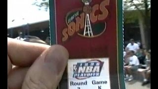getlinkyoutube.com-1996 Sonics vs Utah Jazz Game 7 Western Championship Key Arena Seattle Fans Celebration