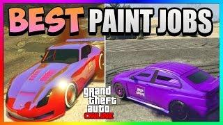 getlinkyoutube.com-GTA 5 Online - Best RARE Paint Jobs! - Dark Matter & Tangerine Dream! (GTA 5 Paint Jobs)