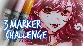 getlinkyoutube.com-COPIC Speedpaint ★ 3 MARKER CHALLENGE ★
