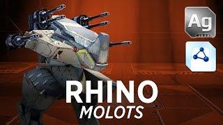 getlinkyoutube.com-Rhino Molots - War Robots - Gameplay (Dead City)