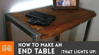 getlinkyoutube.com-Bedside table with a built in night light // How-To