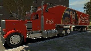 getlinkyoutube.com-Grand Theft Auto IV - Peterbilt Coca Cola Truck + Trailer (MOD) HD
