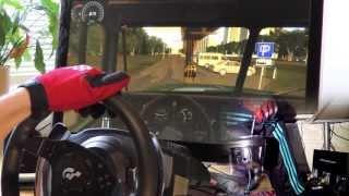 getlinkyoutube.com-Russian Truck Simulator 2013 - 1080° Steering Wheel PC gameplay, City Car Driving 1.3 HD 2014