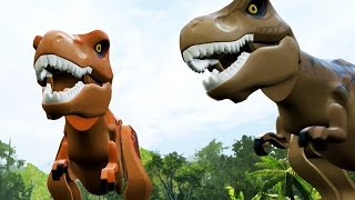 getlinkyoutube.com-LEGO: Jurassic World - T-Rex Gameplay Free Roam