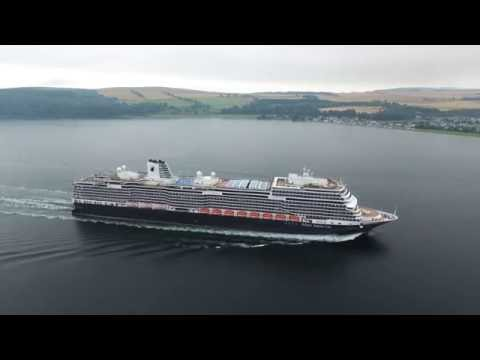 Click to view video Koningsdam Maiden arrival at Invergordon