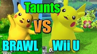 getlinkyoutube.com-Taunt Comparisons in Super Smash Bros Wii U and Brawl (Graphic, Voice, Taunt Changes)