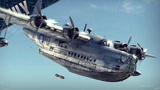 getlinkyoutube.com-TEABAG TRANSPORT - British Sunderland (War Thunder Plane Gameplay)