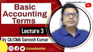 Basic Accounting Terms lecture 3 for class 11 by SANTOSH KUMAR (CA/CMA)