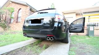 getlinkyoutube.com-VE SSV - V8 Full Xforce Exhaust - Idol/Rev + Driving