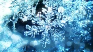 Footage background winter snowflake