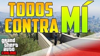 getlinkyoutube.com-TODOS CONTRA MÍ !!!!! - GTA V ONLINE 1.10