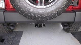getlinkyoutube.com-Magnaflow Black Series Exhaust on Jeep JK
