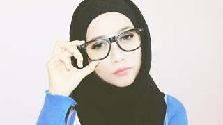 getlinkyoutube.com-Hijab tutorial for glasses