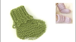 getlinkyoutube.com-DROPS Knitting Tutorial: How to knit the slippers in Baby Drops 25-4