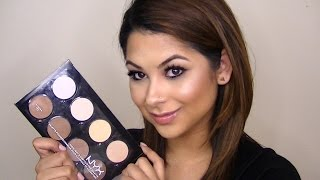 REVIEW/DEMO: NYX Highlight & Contour Pro Palette (talk through)