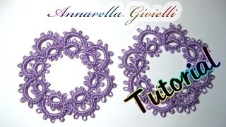 getlinkyoutube.com-Tutorial primi orecchini a chiacchierino | How to needle tatting earrings