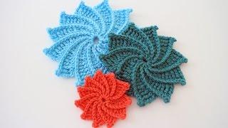 getlinkyoutube.com-How to Crochet the Spiral Crochet Flower