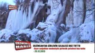 Buz Tutan Girlevik Şelalesinde Kartpostallık Görüntüler Oluştu