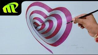 getlinkyoutube.com-Drawing a 3D Heart Hole