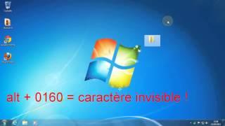 getlinkyoutube.com-Astuce informatique  Cacher un dossier sur  le bureau