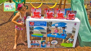 getlinkyoutube.com-STEP 2 SAND WATER TABLE + SURPRISE TOYS ORBEEZ Kinetic Sand MLP SheriffCallie DocMcStuffins Pets Toy
