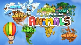 getlinkyoutube.com-Monkey Preschool Animals App for Kids