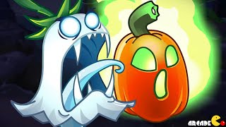 getlinkyoutube.com-Plants Vs Zombies 2: Halloween Plants Jack O' Lantern Trailer!