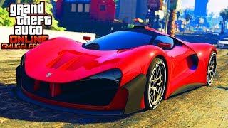 GTA 5 ONLINE NEW $2,500,000 GROTTI VISIONE DLC CAR GAMEPLAY & CUSTOMIZATION! (GTA 5 Smuggler's Run)