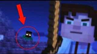 getlinkyoutube.com-Minecraft: Story Mode HEROBRINE SIGHTING!? (Herobrine Appearance in Minecraft Story Mode?)
