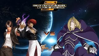 getlinkyoutube.com-[KOF Memorial Lv.2 UM] Iori Yagami & Kyo Kusanagi vs Boss Igniz