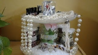 getlinkyoutube.com-Best Out Of Waste Plastic Bottles & Plates Transformed to Jewelry Organizer