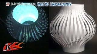 getlinkyoutube.com-DIY Paper Lantern / Aakash Kandil Decoration | Table Top and Hanging | How to make | JK Arts 587