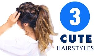 ★ 3 CUTE AF Summer HAIRSTYLES |  Girls UPDO Hairstyle
