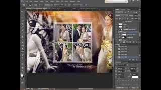 getlinkyoutube.com-How To Design Wedding Album Page 1 using Adobe Photoshop CS6 -HD - Skyart Multimedia Soluti