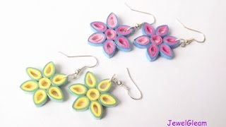 getlinkyoutube.com-Paper Quilled Flower Earrings Tutorial