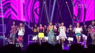 120812 SBS Inkigayo Crayon Pop   Saturday Night