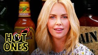 Charlize Theron Takes a Rorschach Test While Eating Spicy Wings | Hot Ones width=