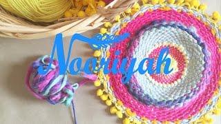 getlinkyoutube.com-نورية { عمل نول دائري } Nooriyah /diy weave rug
