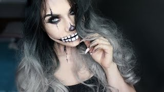 getlinkyoutube.com-Halloween Makeup: Creepy Dark Clown