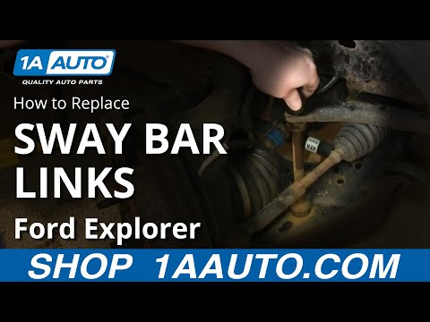 How To Install Replace Front Stabilizer Links 01-10 Ford Explorer Sport Trac