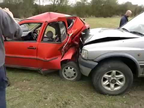 How to shorten a VW polo with a vauxhall frontera