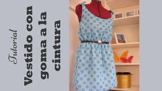 getlinkyoutube.com-Vestido con goma en la cintura: Tutorial paso a paso para hacerlo. DIY COSTURA