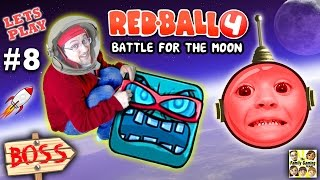 getlinkyoutube.com-Chase & Dad play REDBALL 4! Battle for the Moon BOSS BATTLE!  Levels 56 - 60 (Part 8 Gameplay)