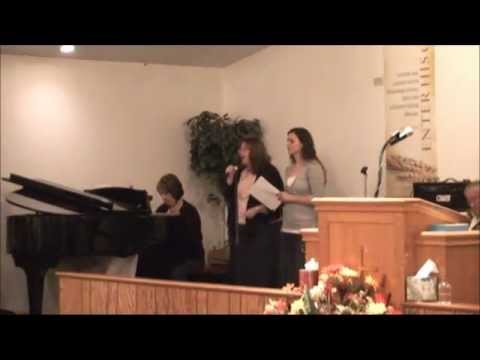 Revival-pentecostal worship service