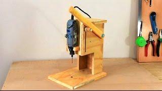 getlinkyoutube.com-Making a Mini Drill Press - Router Table -Spindle Sander (All in One) Çok Fonksiyonlu Dremel Tezgahı
