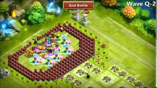 getlinkyoutube.com-Castle Clash - More Base Testing and First Attempt of HBM R 052915