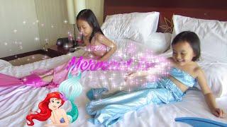getlinkyoutube.com-#2 Mermaid Tail Kids ❤ How To Use Mermaid Tail in Swimming Pool @LifiaTubeHD